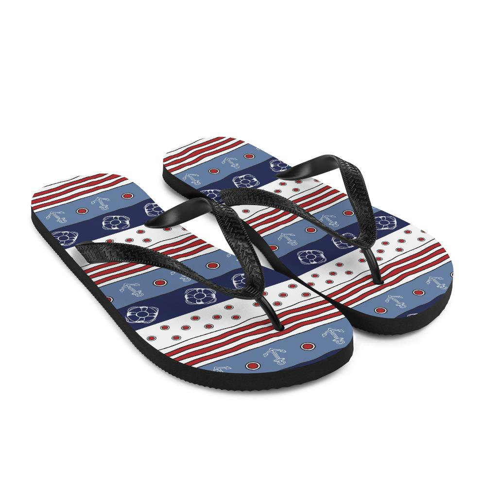 Unisex Flip-Flops - Colorful Waves Collection - SVlovers