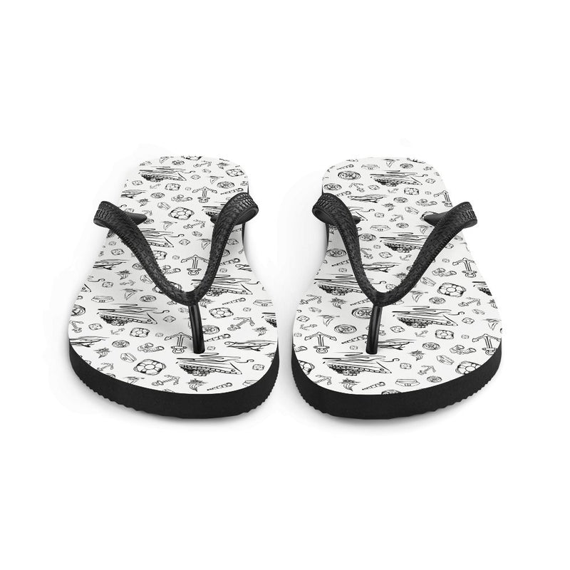 Unisex Flip-Flops - White Sailing World Collection - SVlovers