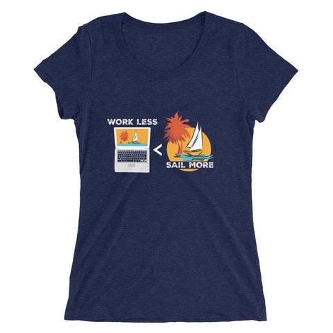 Women's T-Shirt - Work Less-Sail More Collection - SVlovers