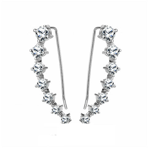 Female Fashion Minimalist Luxury Diamond Earrings