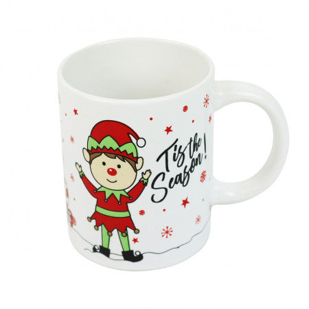 Elf Mug Tis The Season