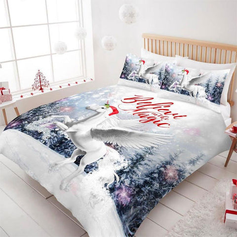Xmas Magic Unicorn Bed Set