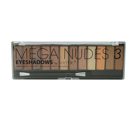 Technic 12 Colour MEGA NUDES 3 Eyeshadow Palette