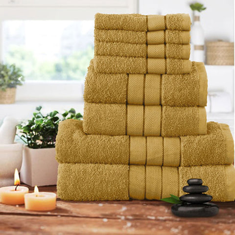 Mustard 8 Set Towels