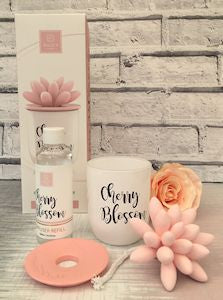 Diffuser Set With Refill Bottle Cherry Blossom