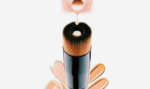 Black Flat and Concave Flawless Foundation Brush