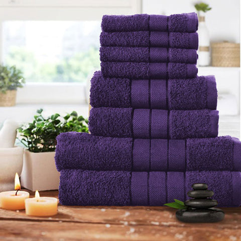 8 piece Luxury Bath Bale Aubergine
