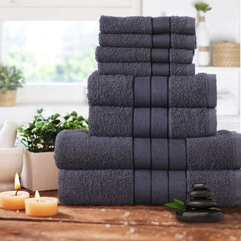 Luxury 8 piece Bath Bales Set Black