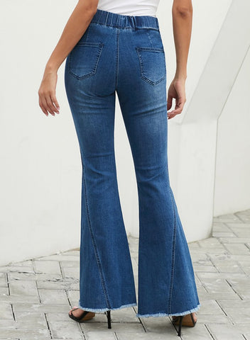 Sky blue bell bottom flare jeans