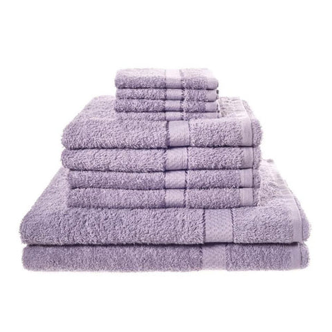 10 Luxury Lilac Towel Set