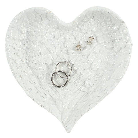 Angel Heart Shaped Trinket Dish