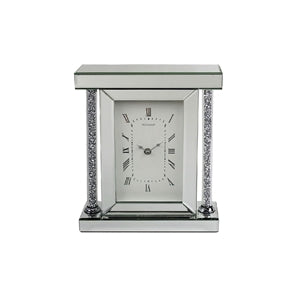 Beautiful Crystal Clear Glass Clock with a Diamante Design