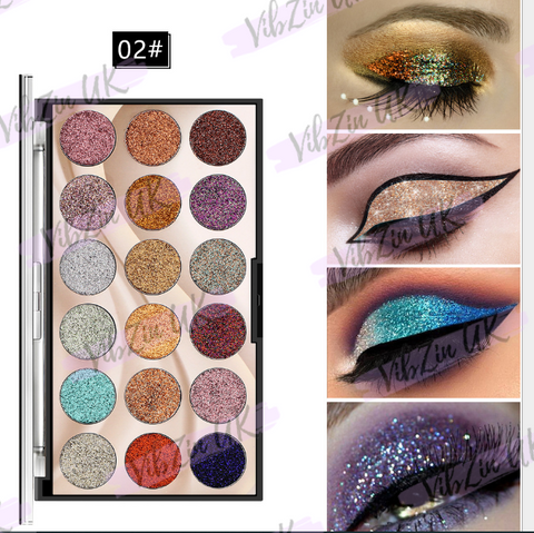 Rose 18 Colours Glitter Eyeshadow Palette