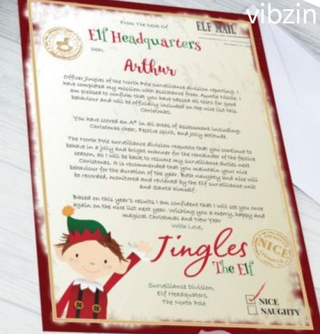 Personalised Xmas Elf Letter