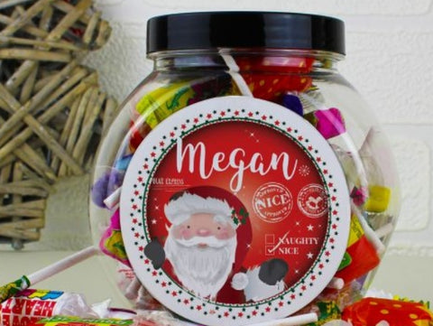 Xmas Nice List Personalised Sweet Jar