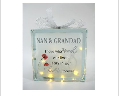 LED Memorial Nan & Grandad Block