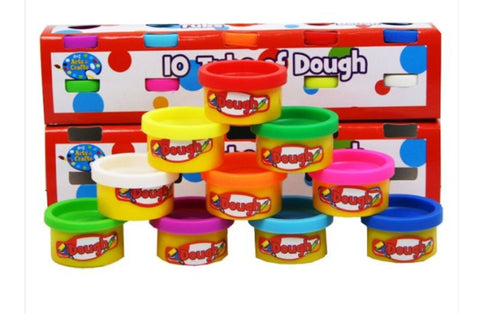 10 Tubs Of Playdoh 3+