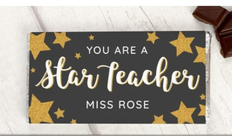 Personalised Star Teacher Chocolate Gift