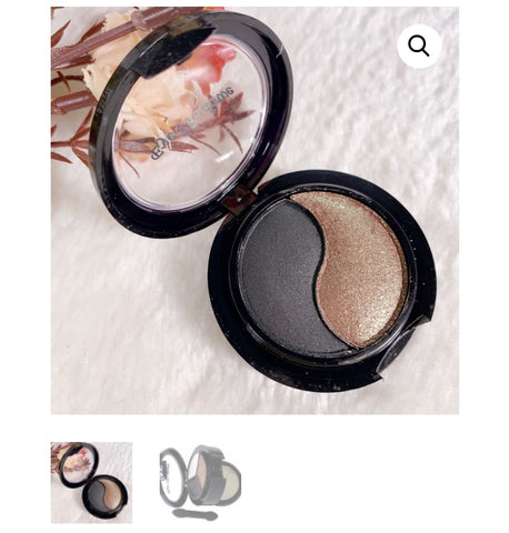 2 Colours Matte/Shimmer Eyeshadow with Mirror and Applicator