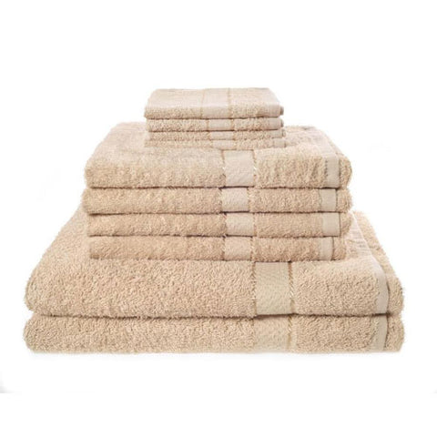 10 Set Bath Towels Sand Beige