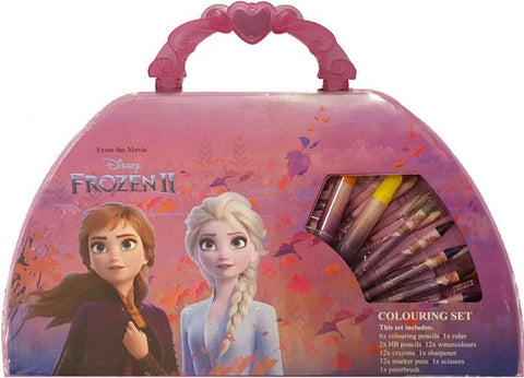 Official Disney Frozen 2 Character Carry Along Travel Art and Stationery Case