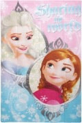 "Official Disney Frozen ""Sharing The World"" Character Fleece Blanket Throw"
