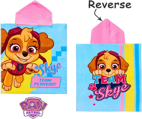 "Official PAW Patrol ""Team Players"" Character Hooded Towel Poncho"