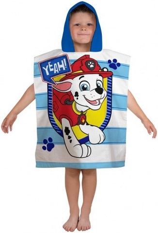 "Official PAW Patrol ""Peek"" Character Hooded Towel Poncho"