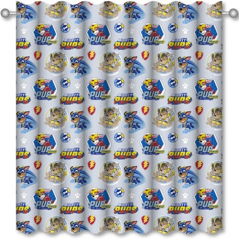 Official PAW Patrol Mighty Pups Character Ready Made Curtains