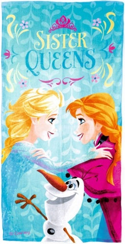 Official Disney Frozen Sister Queens Character 100% Cotton Beach Towel