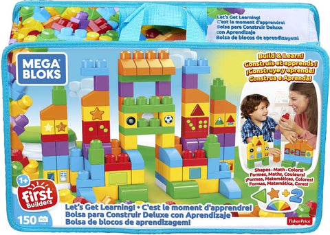 MEGA BLOKS LETS GET LEARNING BAG 150PCS