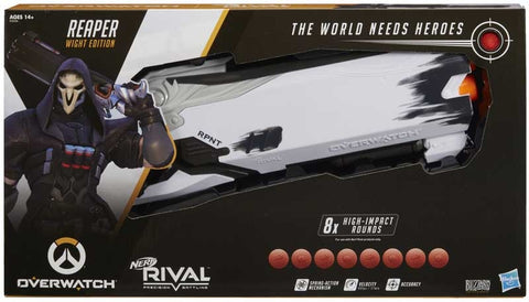 NERF RIVAL OVERWATCH REAPER WIGHT EDITION BLASTER