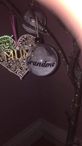 Personalised handmade Bauble Any Name