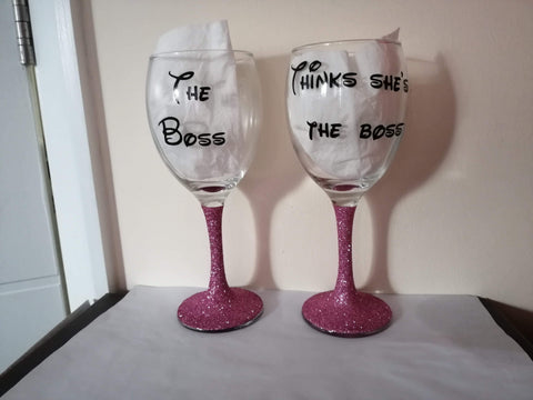 The Boss His & Hers Glasses Set