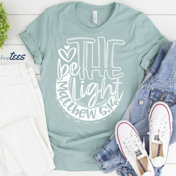 Be The Light Shirt - Dusty Blue