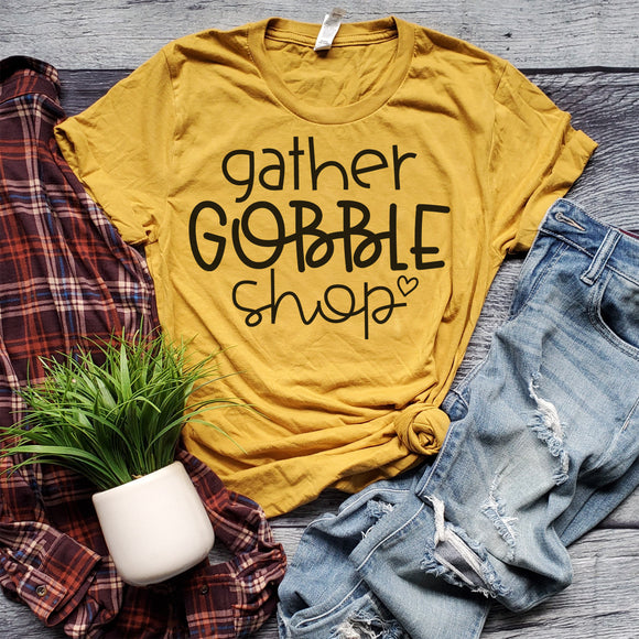 Gather Gobble Shop - Mustard