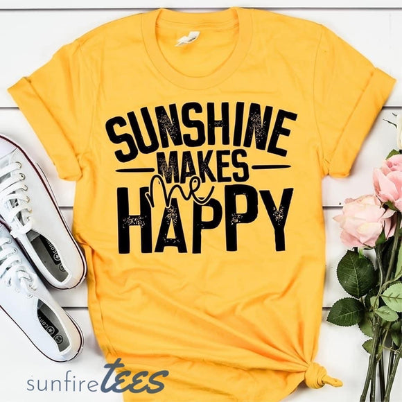 Sunshine Makes Me Happy - Yellow
