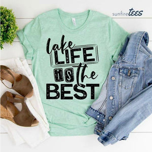 Lake Life is the Best Shirt - Mint