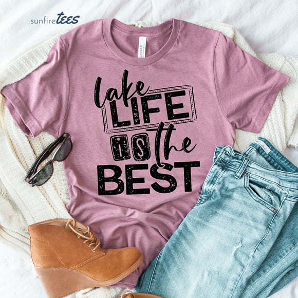 Lake Life is the Best Shirt - Heather Orchid