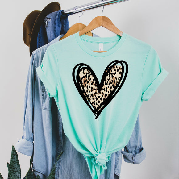 Leopard Heart - Mint