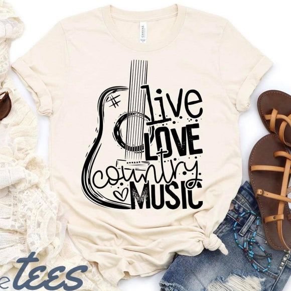 Live Love Country Music - Cream