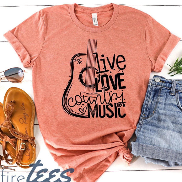 Live Love Country Music - Sunset