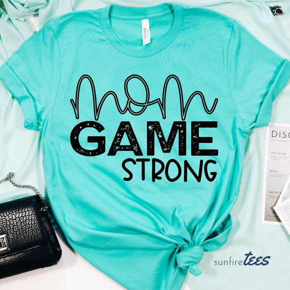 Mom Game Strong Shirt - Turquoise