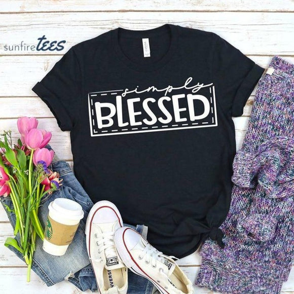 Simply Blessed Shirt - Black