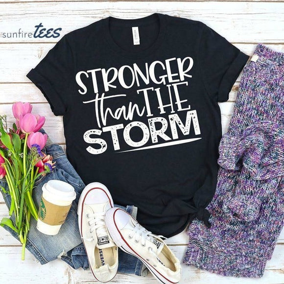 Stronger Than The Storm Shirt - Black