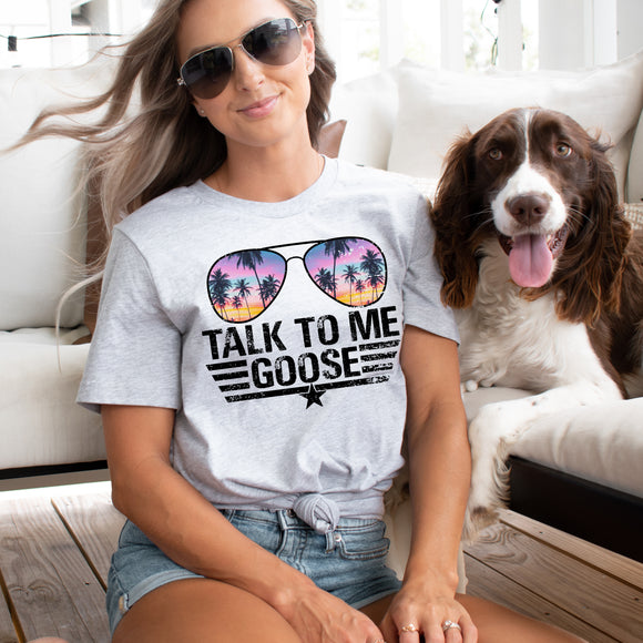 Talk to Me Goose Shirt - athletic heather