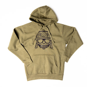 Military Green Embroidered Mola Hoodie