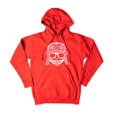Red & White  Embroidered Mola Hoodie