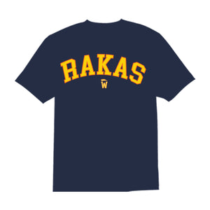 Rakas warrior yellow & orange letters
