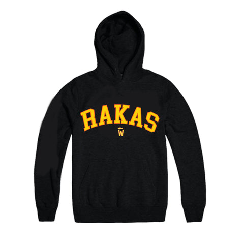 Rakas warriors Hoodie yellow & orange letters